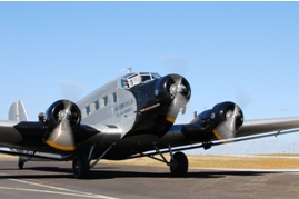Photo of a Junkers JU-52 on display at an air show at Rand Airport in South Africa. The registration is ZS-AZA