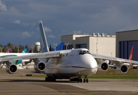 Antonov AN124 cargo airplane at Paine Field