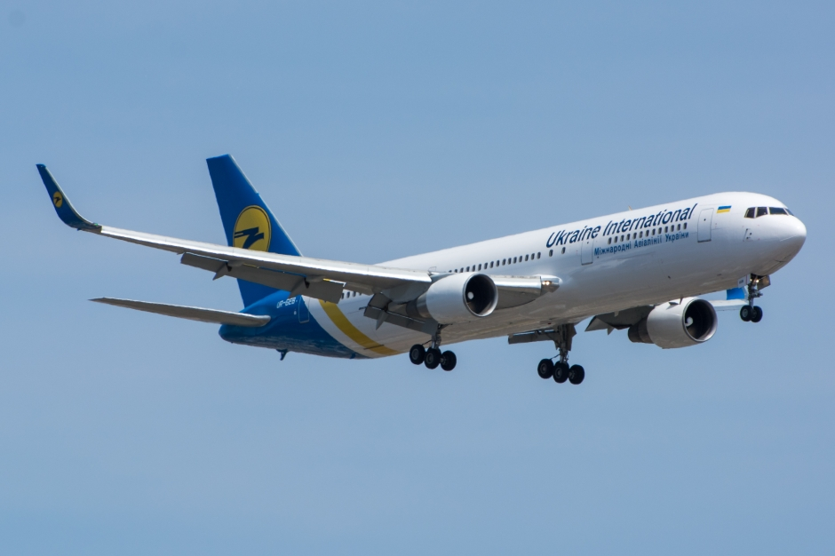 Ukraine International Boeing 767-300 jet airliner