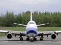 China Airlines Cargo Boeing 747-400F airplane in Alaska