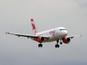 Air Canada Rouge Airbus A319 jet airplane landing