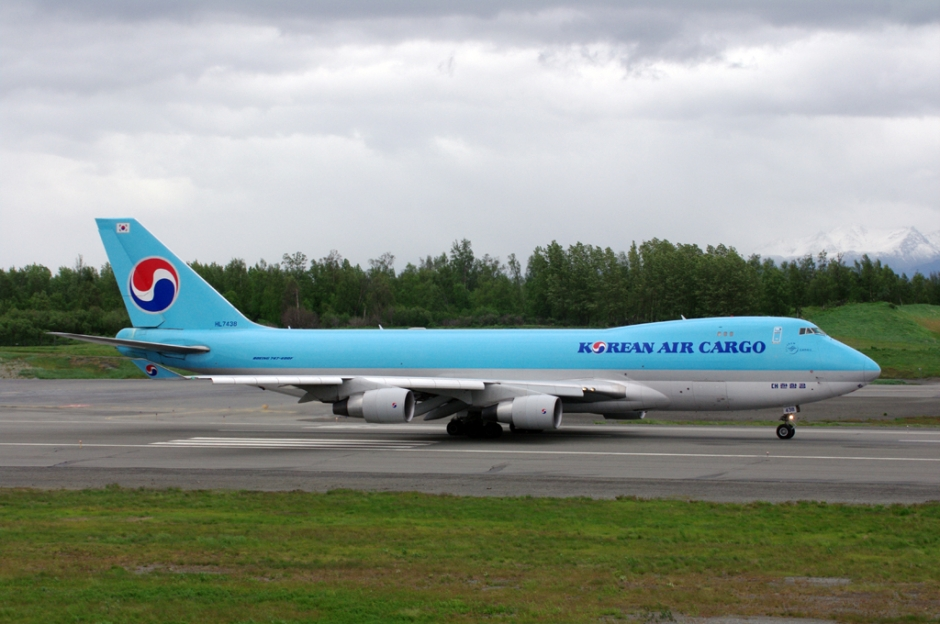 Korean Air Cargo Boeing 747-400F cargo airplane