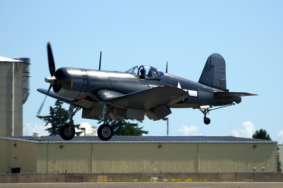 Planes of Fame Chance Vought F4-U Corsair airplane
